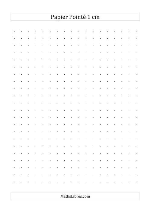 La Papier pointé métrique 1cm (noir) Papier à Graphique