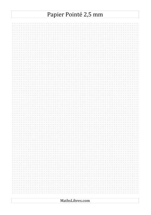 La Papier pointé métrique 2,5mm (gris) Papier à Graphique
