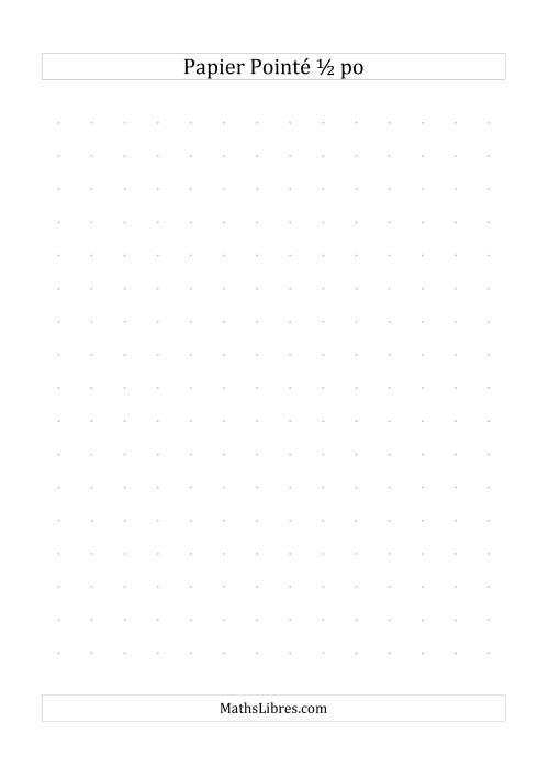 La Papier pointé impérial 2 points par pouce (gris) Papier à Graphique