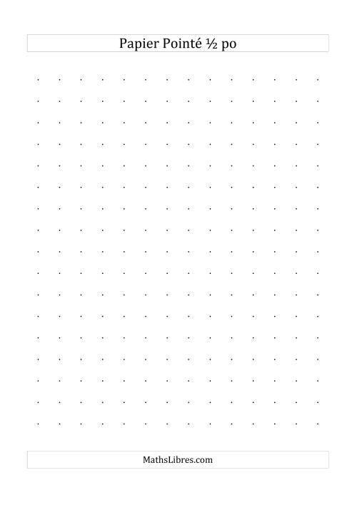 La Papier pointé impérial 2 points par pouce (noir) Papier à Graphique