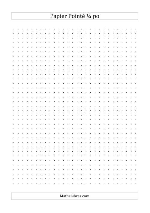 La Papier pointé impérial 4 points par pouce (noir) Papier à Graphique