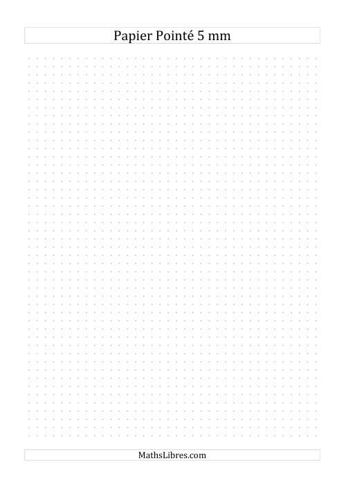 La Papier pointé métrique 5mm (gris) Papier à Graphique