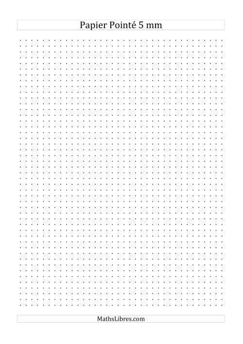 La Papier pointé métrique 5mm (noir) Papier à Graphique