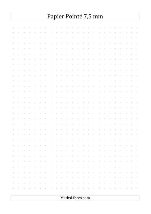 La Papier pointé métrique 7,5mm (gris) Papier à Graphique