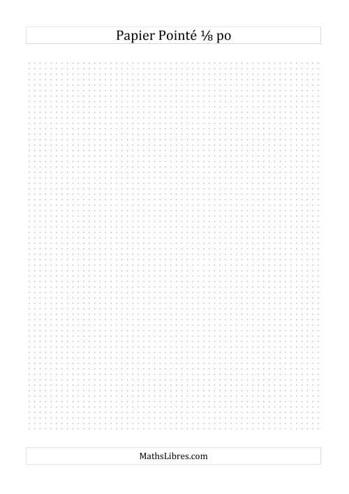 La Papier pointé impérial 8 points par pouce (gris) Papier à Graphique