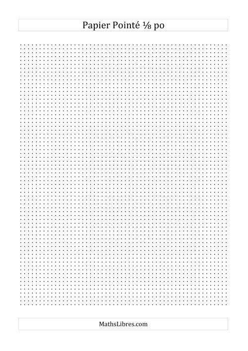 La Papier pointé impérial 8 points par pouce (noir) Papier à Graphique