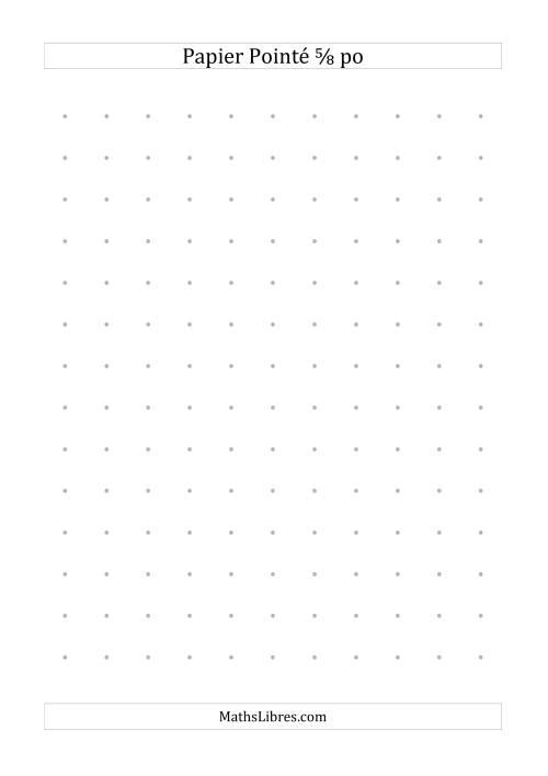 La Papier pointé impérial 5/8 pouce (gris) Papier à Graphique