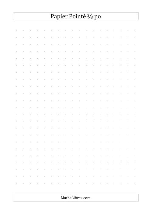 La Papier pointé impérial 3/8 pouce (gris) Papier à Graphique