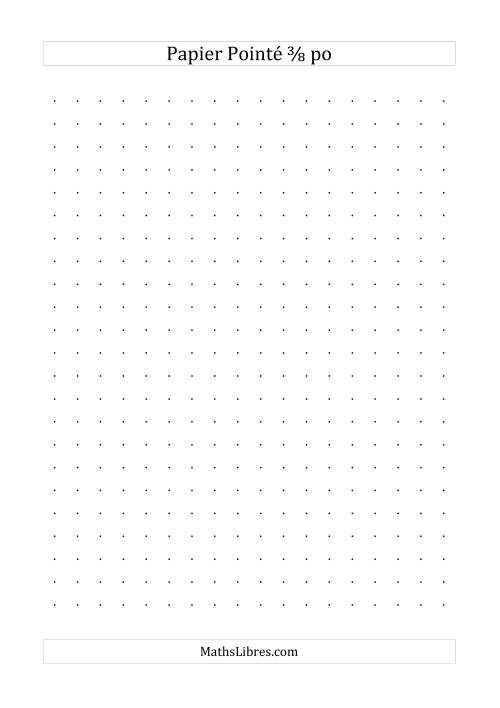 La Papier pointé impérial 3/8 pouce (noir) Papier à Graphique