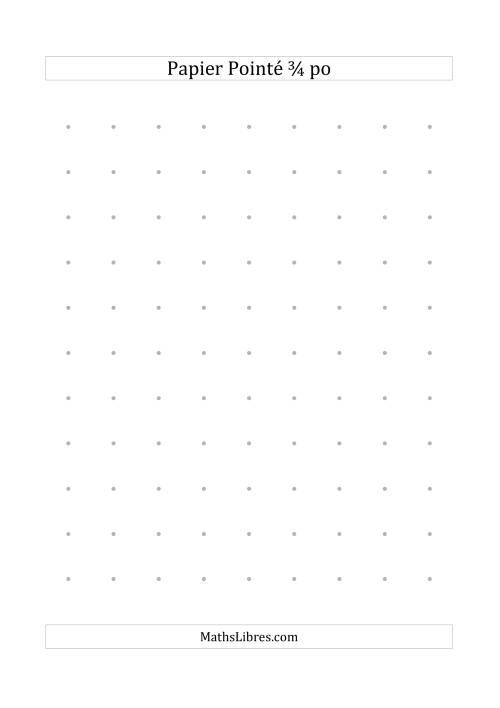 La Papier pointé impérial 3/4 pouce (gris) Papier à Graphique