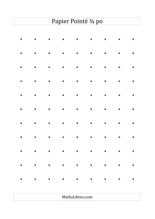 La Papier pointé impérial 3/4 pouce (noir) Papier à Graphique