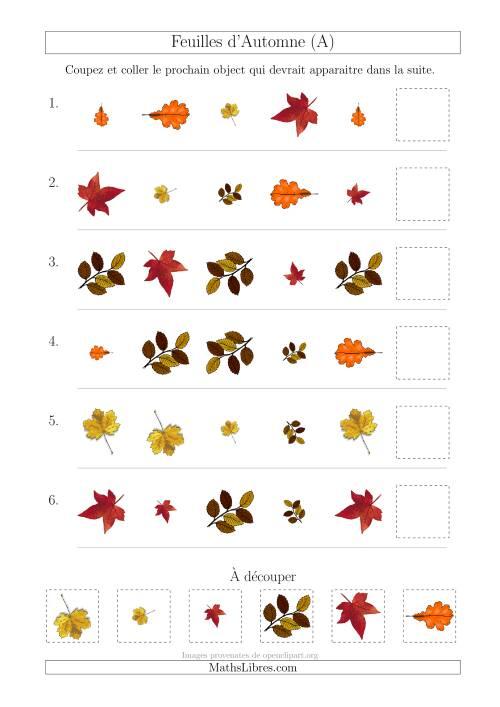 Patrons des feuilles d automne avec trois particularit s forme taille et rotation a - Taille des rosiers automne ...