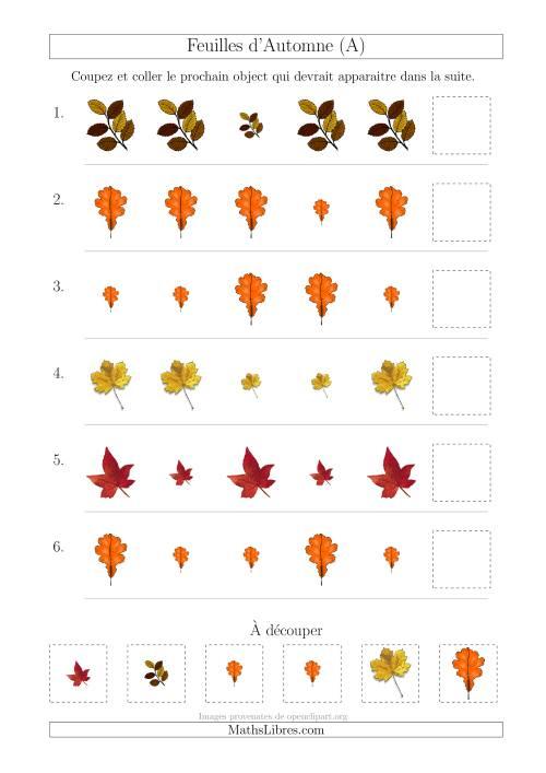 Patrons des feuilles d automne avec une seule particularit taille a - Taille des rosiers automne ...