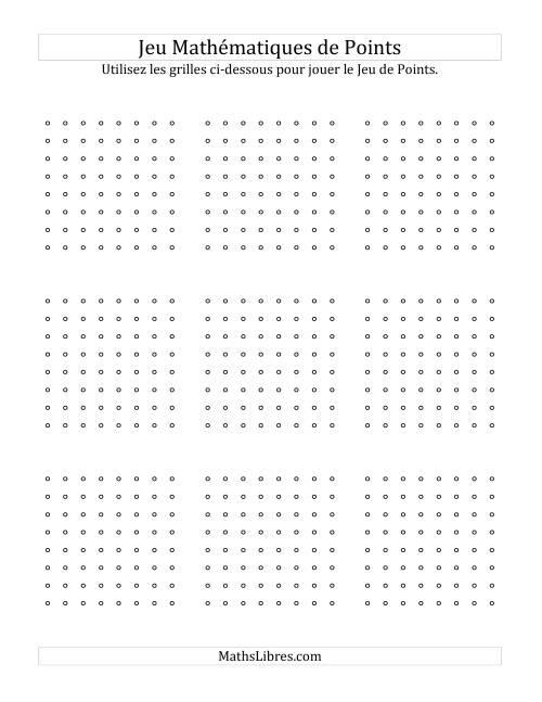 La Tablier de jeu pour jouer le Jeu Mathématique de Points hors ligne Jeu Mathématique de Points