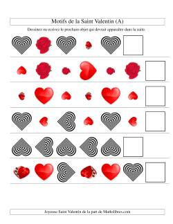 Motifs de la Saint Valentin avec Trois Particularités (forme, taille & rotation) (A)