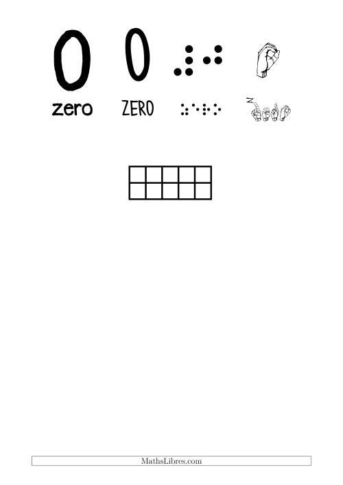 La Reconnaissance de Nombre 0 avec Comme Thème un Papillon Fiche d'Exercices sur le Sens des Nombres